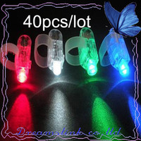 Wholesale 40piece New finger Light led finger light laser finger Light ring lamp finger Valentine s gift