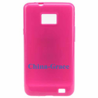 Wholesale TPU Silicon Cover Case For Samsung Galaxy S II i9100 Cell Phone Accessories E088