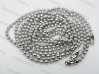 Wholesale quot cm of mm Bead Ball Stainless Steel Ball Chain Necklace Lead Free