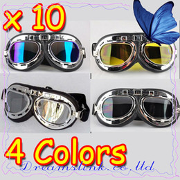 Wholesale 10pcs New Motorcycle Helmet Goggles ATV Motocross Accessory Youth Goggles Folding Mixed Colors