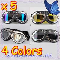 atv goggles youth - 5pcs New Motorcycle Helmet Goggles ATV Motocross Accessory Youth Goggles Folding Mixed Colors