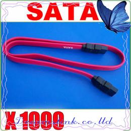 Wholesale 1000pcs New Serial SATA ATA Raid Data HDD Hard Drive Cable Sata HDD Cable