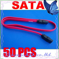 Serial Cable ata data - 50pcs New Serial SATA ATA Raid Data HDD Hard Drive Cable