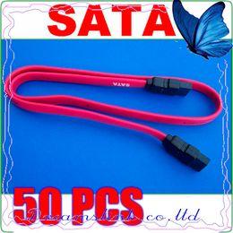 Wholesale 50pcs New Serial SATA ATA Raid Data HDD Hard Drive Cable