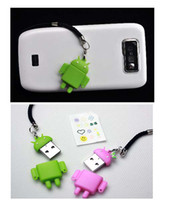 Wholesale Android Mobile Phone Chain Ornaments Pet Robot Couple TF Card Reader USB Card Reader