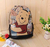 Wholesale High quality bags Winnie the Pooh Series Cartoon Tote Bag big Cute Backpack College