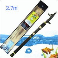 Wholesale 2 Meters of Telescopic Fishing Rod Long Shot Rod JINLIN Fishing Tackle Sea Fishing Rods