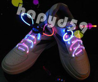 Wholesale 5pair shoes lace laces bootlace shoe lace light up LED flashing flash shining shoelace shoelaces