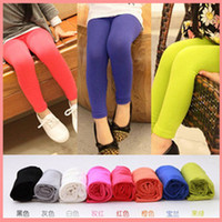 Wholesale 2012 New Candy Colors Leggings Pants Children All match Pants Girls Spring Summer