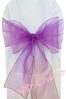"Pageant,Banquet   100PCS 7""x108"" Purple Chair Sashes Chair Cover Bows Wedding Party Banquet Shimmering Pageant Sashes"