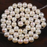 Wholesale DIY semi finished products mm White Freshwater Cultured Pearl Loose Bead inches