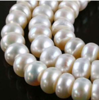 Wholesale DIY semi finished products X8MM White Saltwater Akoya Pearl Loose Beads inches