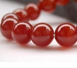 DIY semi-finished products 8mm Red Ruby Jade Round Loose Bead 15 inches