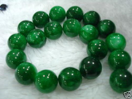 Wholesale DIY semi finished products mm Green Emerald Gems Round Loose Bead inches