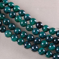 Productos semiacabados de bricolaje 8 mm Green Dragon Veins Ágata Onyx Redondo Loose Bead 15 pulgadas