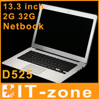 Wholesale 13 inch laptop Dual Core Laptops Air laptop notebook computer intel D525 Ghz G G
