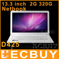 Wholesale 13 quot Laptop Notebook Computer D425 GB DDR GB White Black Color