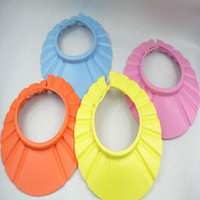Wholesale NEW Adjustable Safe Shampoo Shower Bath Cap for Baby Children