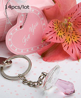 Wedding pink baby favors wedding gifts TOP wedding supplier crystal baby shower favors 14pcxs lot pink color with real product photos