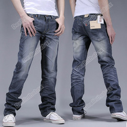 Wholesale 2012 Hot Sale Men s Fashion Slim Fit Korean Classic Straight Washing Jeans Trousers