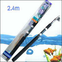 Wholesale 2 Meters of Telescopic Fishing Rod Long Shot Rod TIANFENG Fishing Tackle Sea Fishing Rods