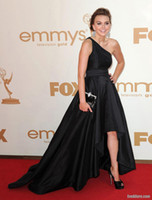 Wholesale Celebrity Dresses One Shoulder New Aimee Teegarden Emmy Red Carpet Evening Dress Prom dress