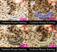 Silver Plate/Fill best basketball hoops - Best Selling New Basketball Wives Hoop Earrings rings pairs Mix colours Popular Jewelry