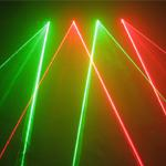 Green activated double - 4 Lens double red and double green heads RG DJ Laser System DMX Pro Show Light Total mw