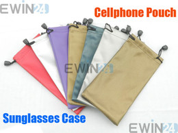 Wholesale NEW Cellphone Pouch Sunglasses D Glasses Case Waterproof Holder Soft Dust Pouch Carry Bag