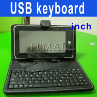 7 inch 8650 - 7 inch Tablet USB Keyboard leather case inch Tablet Case with USB Keyborad for inch Tablet