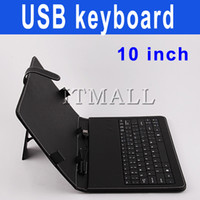 Wholesale 10 inch Tablet USB Keyboard leather case inch Tablet Case with USB Keyborad for Flytouch ZT180