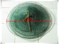 Wholesale folding fishing net mesh bag strong fishing creel tool accessory tackle rig gear hot selling