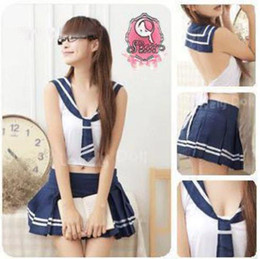 Wholesale brand new Sexy School Girl Cosplay Costume Lingerie Dress Uniform