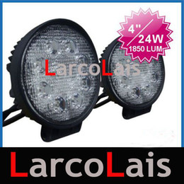 2pcs 24W 12V & 24V LED Work Light Led lamp OffRoad 4WD 4x4 Flood