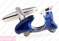 Wholesale Fashion Jewelry Men s for Cufflinks Traffic Japan Motorcycle Blue formal wear Accessories Suit Shirt