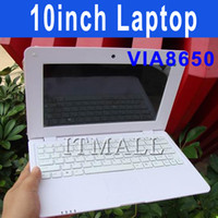 Wholesale 10 inch UMPC Via8850 Win CE Laptop Android Netbook Notebook GB Webcam flash Skype Youtube