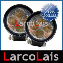 2pcs 12W LED Driving Work light Lamp Tractor Truck Car 4WD 4x4 Boat Van 12V 24V