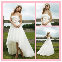 Wholesale Sweetheart Strapless applique Organza Floor length A Line Gown Wedding Dress Sincerity