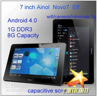 Wholesale 2012 New First Android Inch Capacitive Screen GB Tablet PC epad Ainol NOVO7 Paladin FreeShip