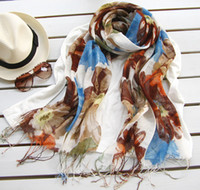 Wholesale Korean women shawls Winter burst selling the pastoral cotton linen scarf