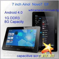 Wholesale 7 inch android Ainol Novo7 tablet pc capacitive screen A10 GHz DDR3 GB P Wifi G Camera