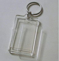 Wholesale 100pcs Blank Acrylic Rectangle Keychains Potho frame Insert quot x quot Photo Keyrings
