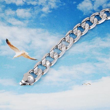 White Bracelet For Men Men's Bracelet 18k White Gold