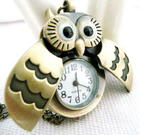 Cross Adorn Article Can Open The Owls POCKET WATCHES NECKLAC...