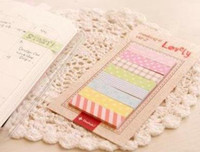 Wholesale Lovely rainbow memo sticker pads Notepad Memo Paper notebook self adhesive note