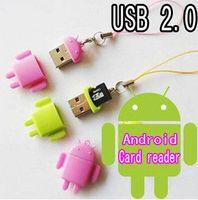 mini sd card reader - New Mini Lover Android Robot Doll USB Micro SD Card Reader