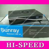 Wholesale Sunray4 Sunray se se hd se SR4 with DVB S DVB C DVB T and wifi build in free dhl ship
