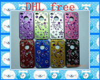Yes Metal For Apple iPhone Aluminum alloy colourfull case cover diamond cse for iphone 4 4s charger 100pcs