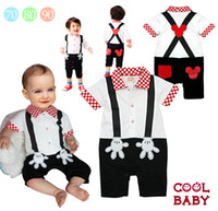 Wholesale Baby Romper Baby Mickey palm gentleman short sleeve Romper