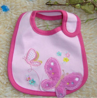 Wholesale Babies Cotton Cartoon Bibs Baby Feeding Infants Waterproof Bib Neck Wears bibs